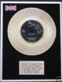 "STEVIE WONDER - 7"" Platinum Disc - FOR ONCE IN MY LIFE"